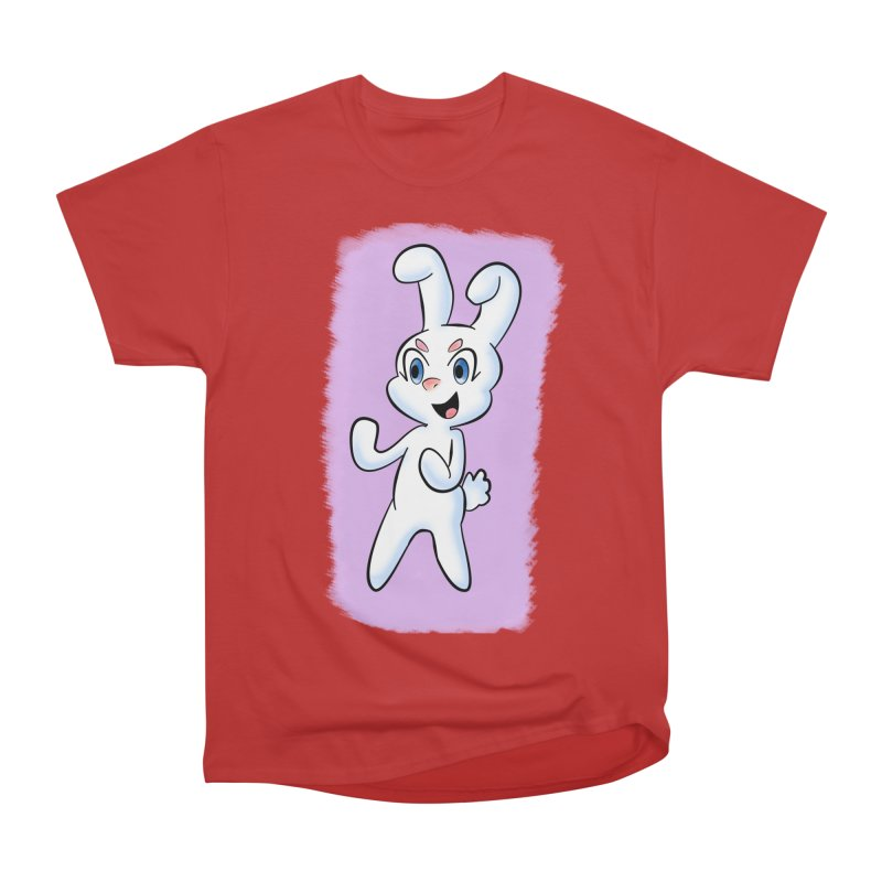CUTE RABBIT Women's Heavyweight Unisex T-Shirt by droidmonkey's Artist Shop