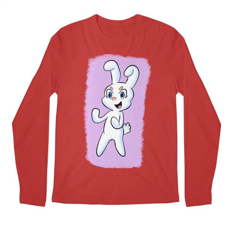 CUTE RABBIT Men's Regular Longsleeve T-Shirt by droidmonkey's Artist Shop