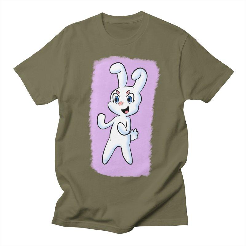 CUTE RABBIT Women's Regular Unisex T-Shirt by droidmonkey's Artist Shop