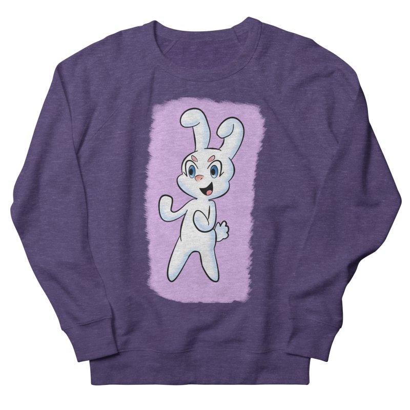 CUTE RABBIT Women's French Terry Sweatshirt by droidmonkey's Artist Shop