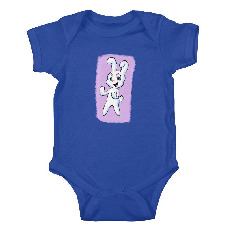 CUTE RABBIT Kids Baby Bodysuit by droidmonkey's Artist Shop