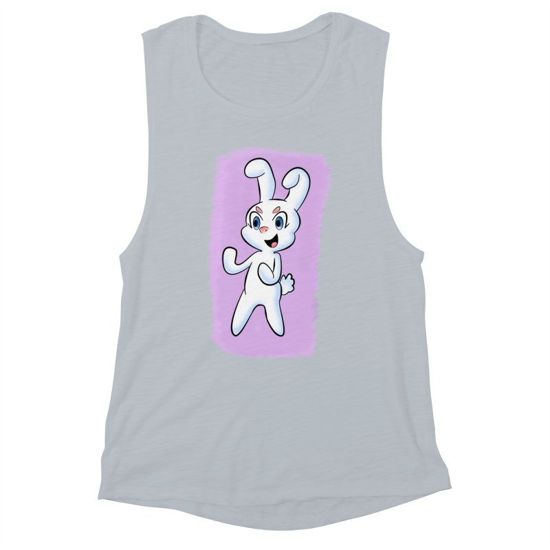 CUTE RABBIT Women's Muscle Tank by droidmonkey's Artist Shop