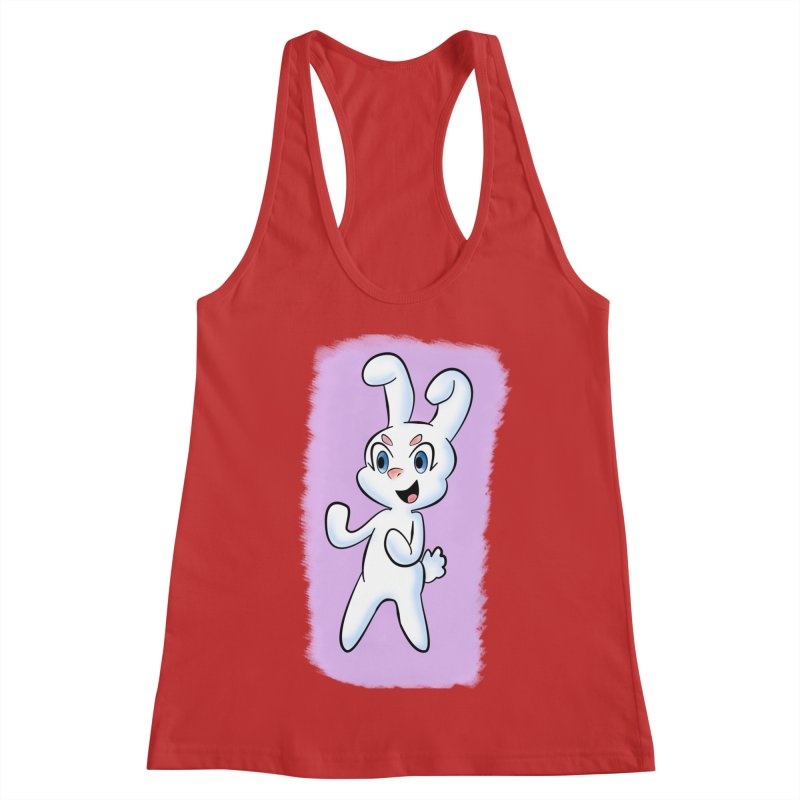 CUTE RABBIT Women's Racerback Tank by droidmonkey's Artist Shop