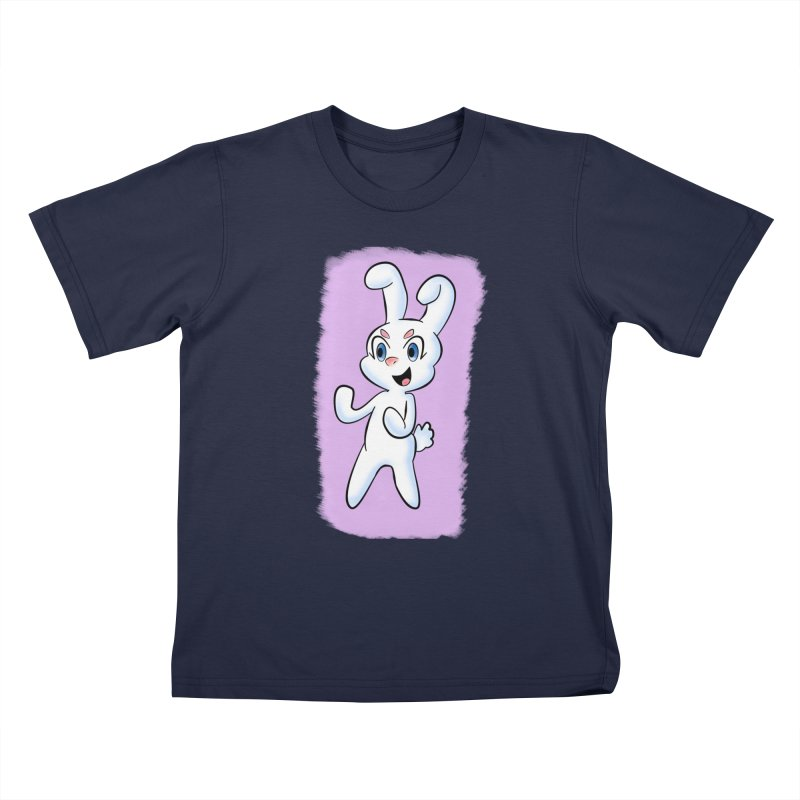 CUTE RABBIT Kids T-Shirt by droidmonkey's Artist Shop