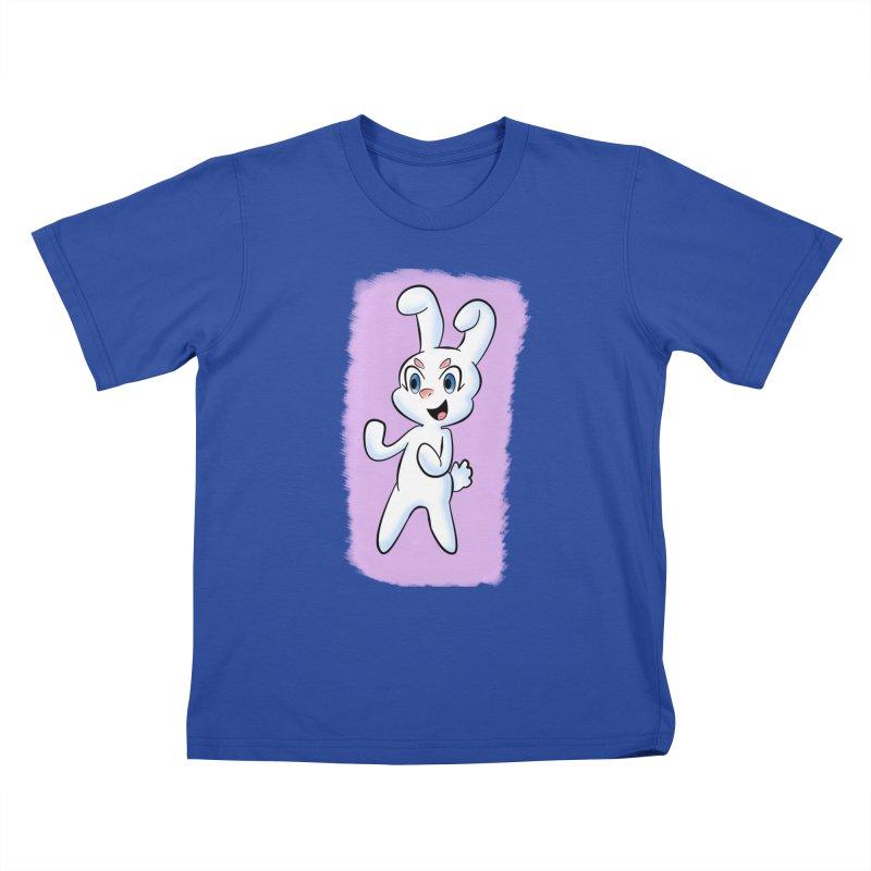 CUTE RABBIT Kids T-Shirt by droidmonkey's Artist Shop