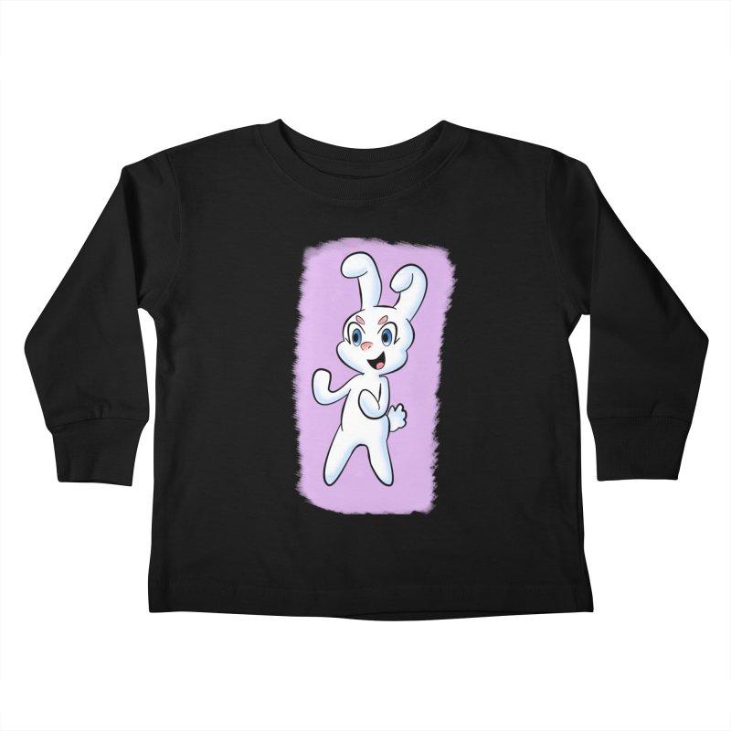 CUTE RABBIT Kids Toddler Longsleeve T-Shirt by droidmonkey's Artist Shop