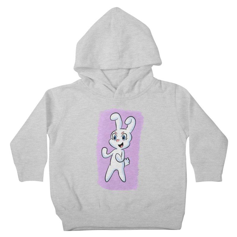 CUTE RABBIT Kids Toddler Pullover Hoody by droidmonkey's Artist Shop
