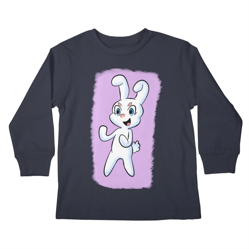 CUTE RABBIT Kids Longsleeve T-Shirt by droidmonkey's Artist Shop
