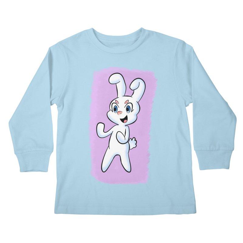 CUTE RABBIT Kids Longsleeve T-Shirt by droidmonkey's Artist Shop