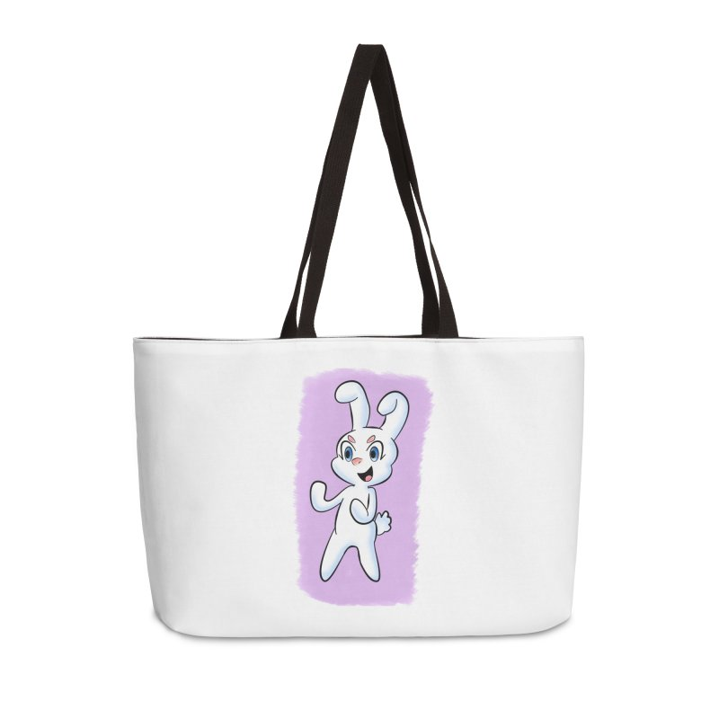 CUTE RABBIT Accessories Weekender Bag Bag by droidmonkey's Artist Shop