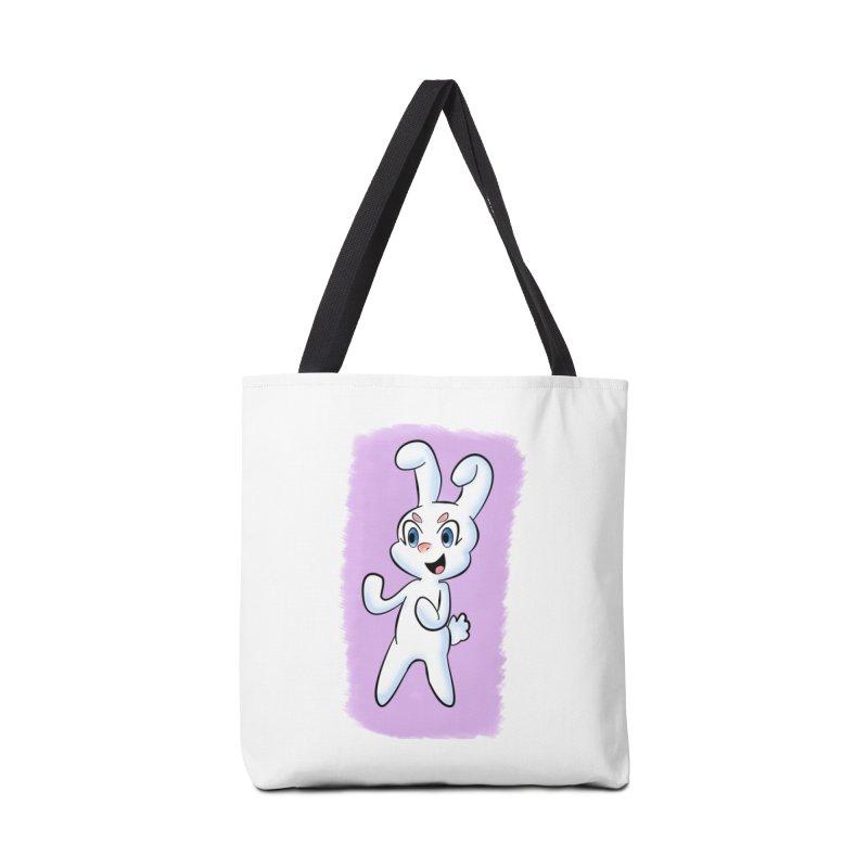 CUTE RABBIT Accessories Tote Bag Bag by droidmonkey's Artist Shop