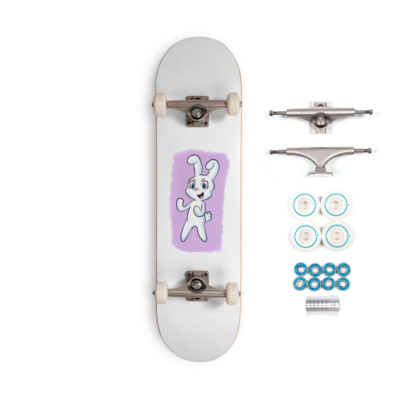 CUTE RABBIT Accessories Complete - Basic Skateboard by droidmonkey's Artist Shop