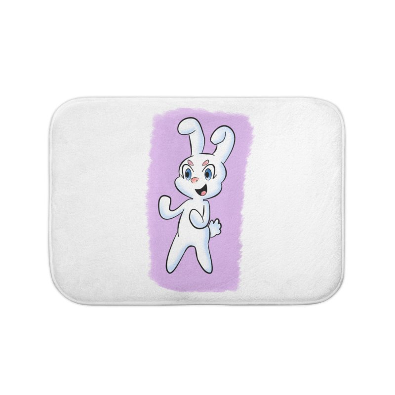 CUTE RABBIT Home Bath Mat by droidmonkey's Artist Shop