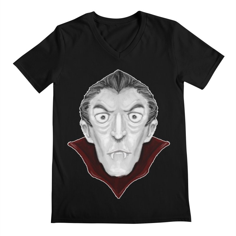 DRACULA Men's Regular V-Neck by droidmonkey's Artist Shop