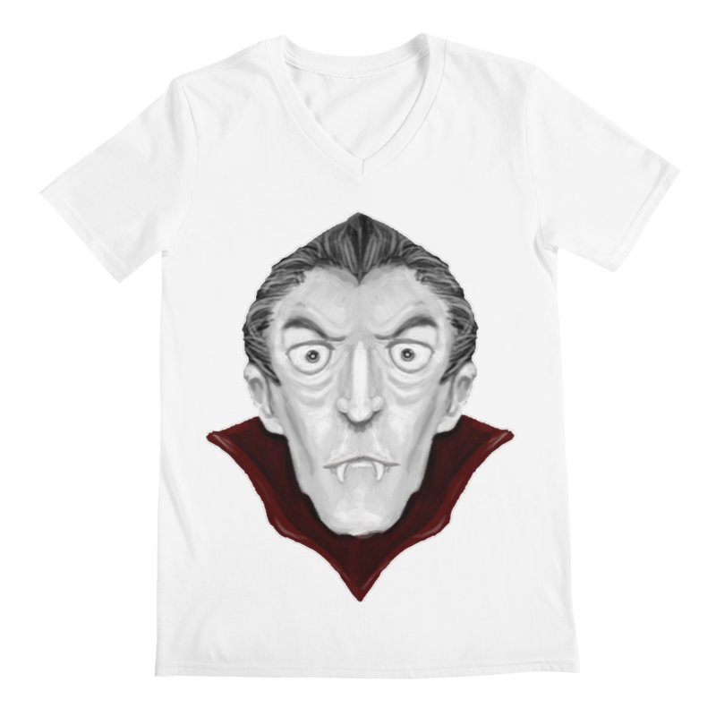 DRACULA Men's V-Neck by droidmonkey's Artist Shop