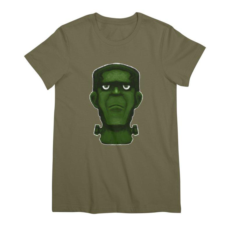 FRANKENSTEIN'S MONSTER Women's Premium T-Shirt by droidmonkey's Artist Shop
