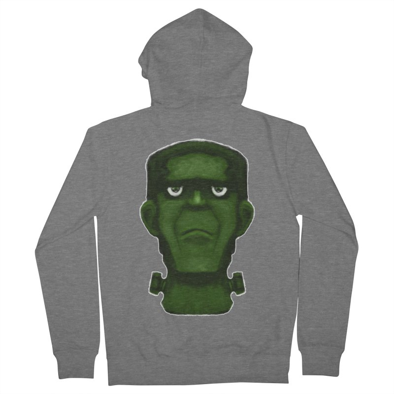 FRANKENSTEIN'S MONSTER Women's French Terry Zip-Up Hoody by droidmonkey's Artist Shop
