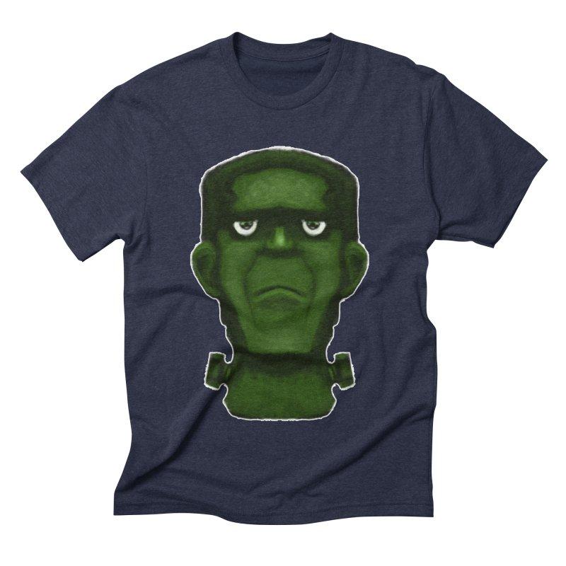 FRANKENSTEIN'S MONSTER Men's Triblend T-Shirt by droidmonkey's Artist Shop