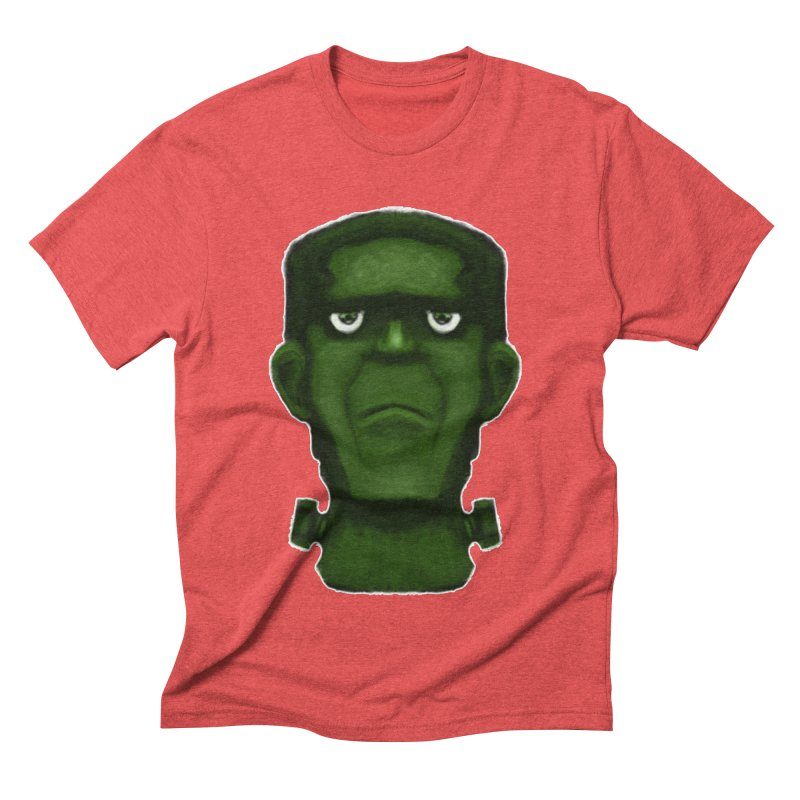 FRANKENSTEIN'S MONSTER Men's Triblend T-Shirt by droidmonkey's Artist Shop
