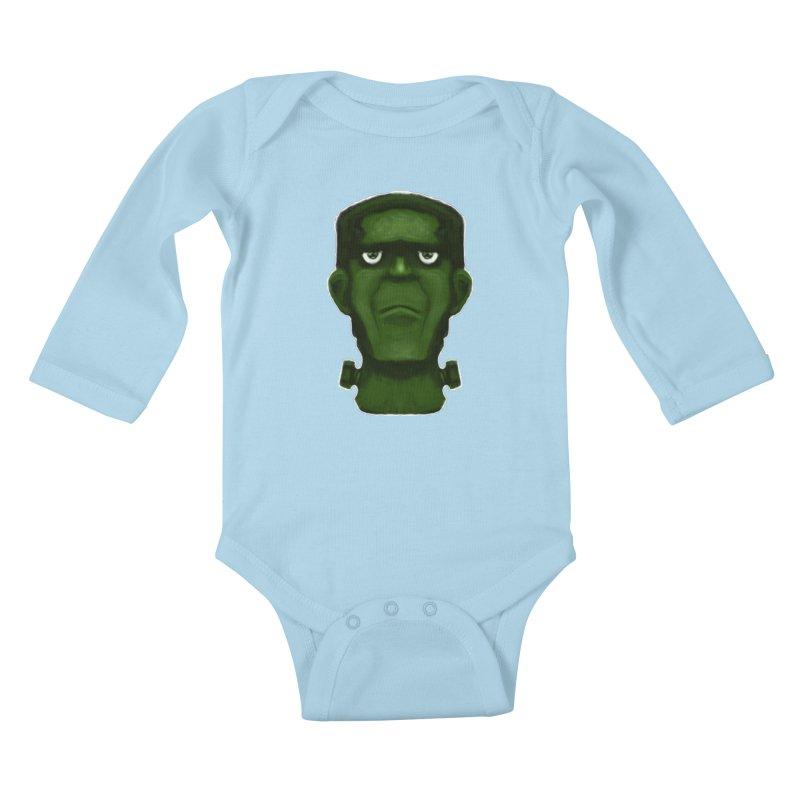 FRANKENSTEIN'S MONSTER Kids Baby Longsleeve Bodysuit by droidmonkey's Artist Shop