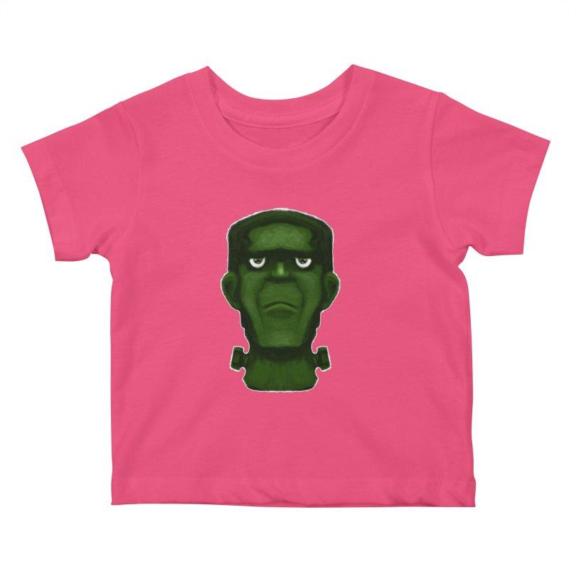FRANKENSTEIN'S MONSTER Kids Baby T-Shirt by droidmonkey's Artist Shop