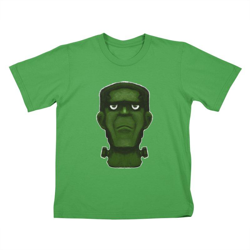 FRANKENSTEIN'S MONSTER Kids T-Shirt by droidmonkey's Artist Shop
