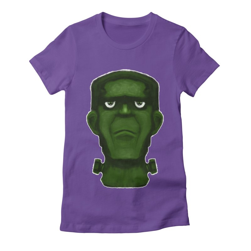 FRANKENSTEIN'S MONSTER Women's Fitted T-Shirt by droidmonkey's Artist Shop