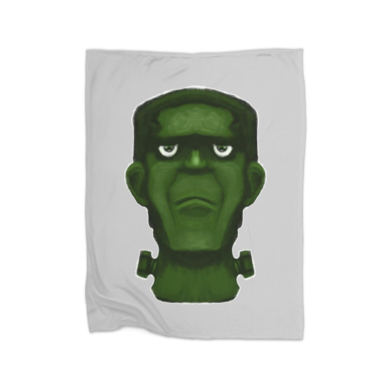 FRANKENSTEIN'S MONSTER Home Fleece Blanket Blanket by droidmonkey's Artist Shop