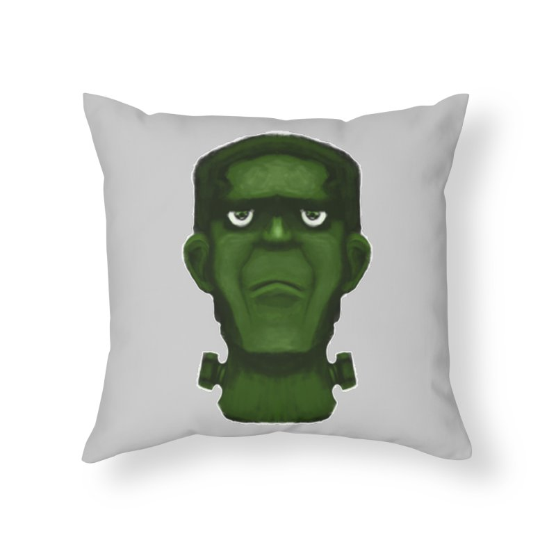 FRANKENSTEIN'S MONSTER Home Throw Pillow by droidmonkey's Artist Shop