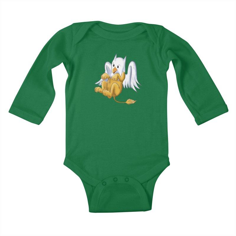 CUTE BABY GRIFFIN Kids Baby Longsleeve Bodysuit by droidmonkey's Artist Shop