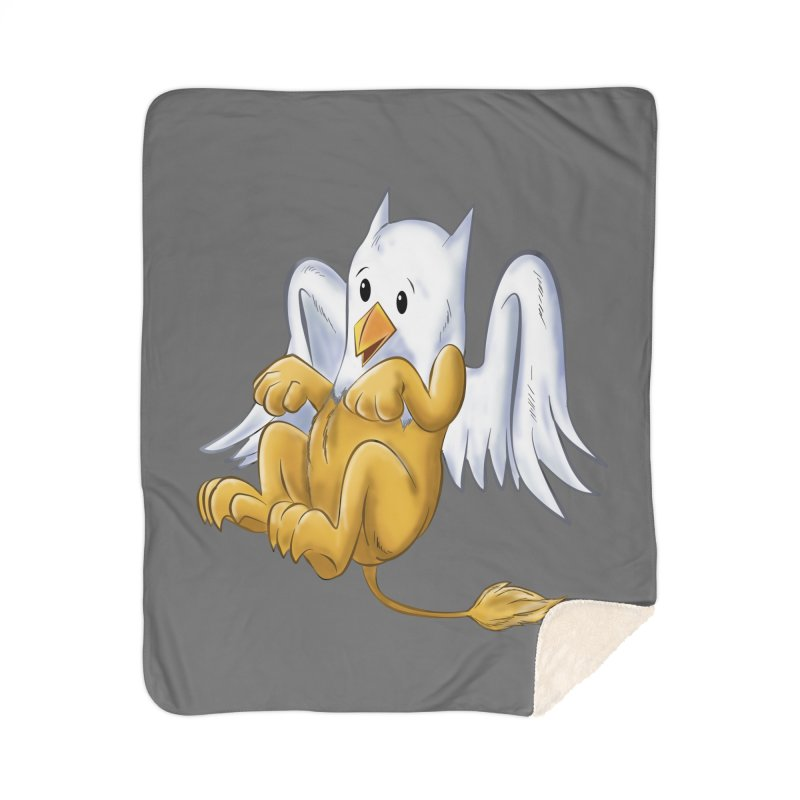 CUTE BABY GRIFFIN Home Sherpa Blanket Blanket by droidmonkey's Artist Shop
