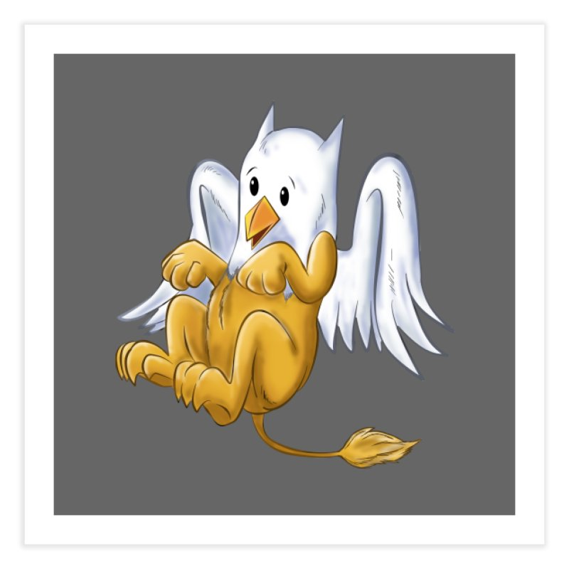 CUTE BABY GRIFFIN Home Fine Art Print by droidmonkey's Artist Shop