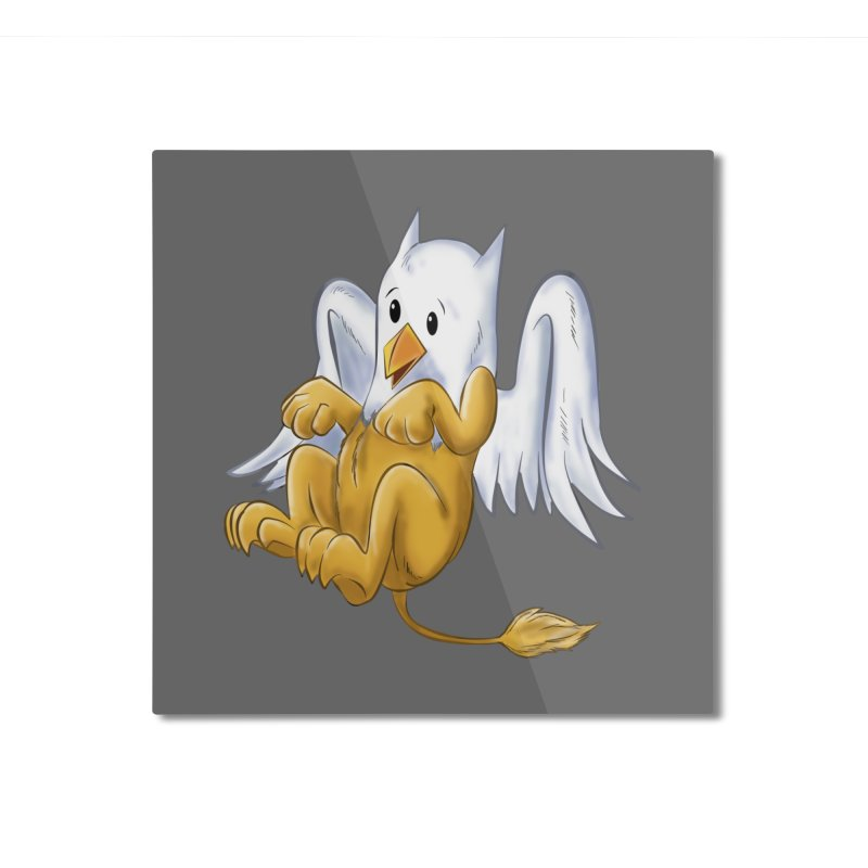 CUTE BABY GRIFFIN Home Mounted Aluminum Print by droidmonkey's Artist Shop