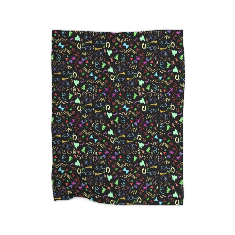SQUIGGLES Home Blanket by droidmonkey's Artist Shop