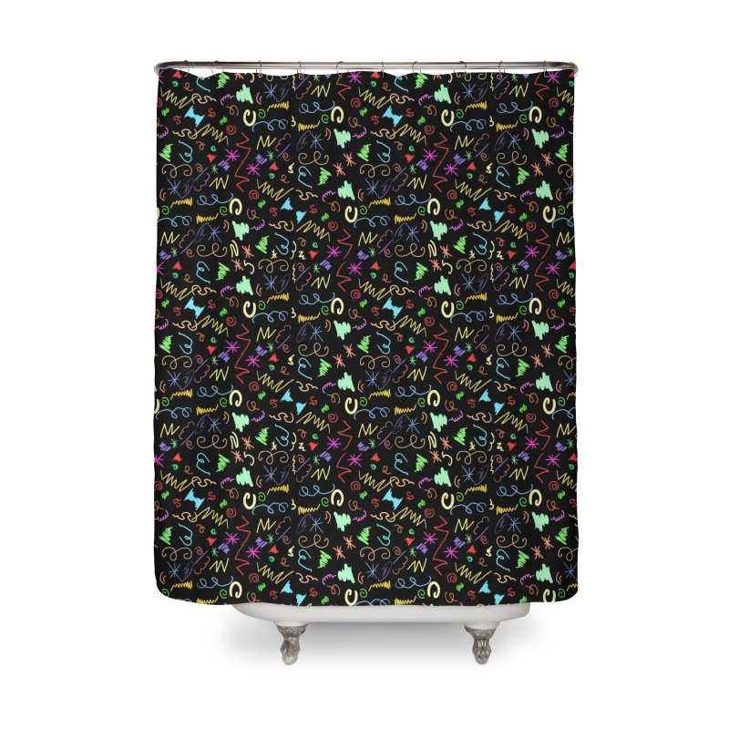 SQUIGGLES Home Shower Curtain by droidmonkey's Artist Shop