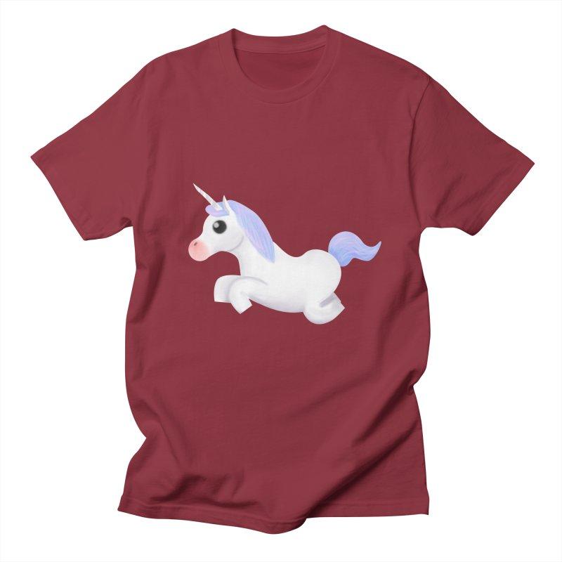 UNICORN Men's T-Shirt by droidmonkey's Artist Shop