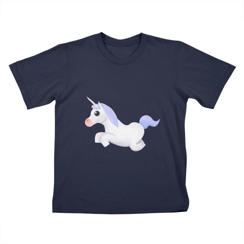 UNICORN Kids T-Shirt by droidmonkey's Artist Shop