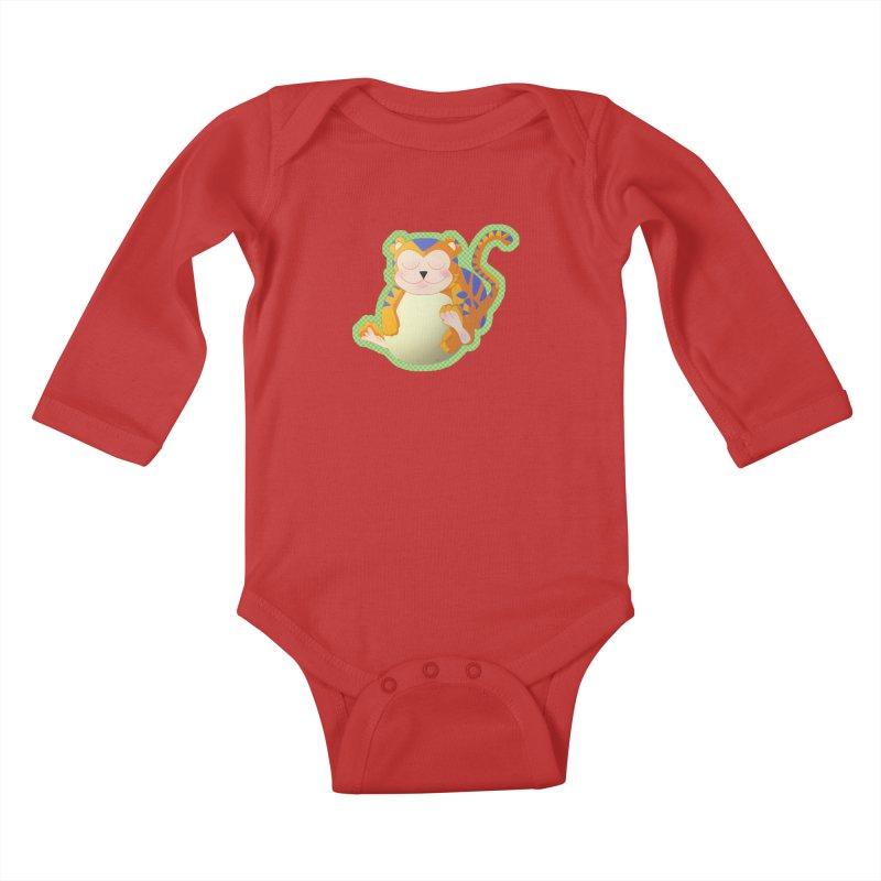 LIL' TIGER Kids Baby Longsleeve Bodysuit by droidmonkey's Artist Shop