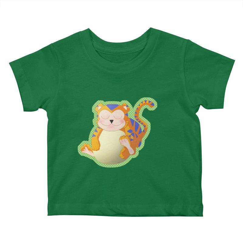 LIL' TIGER Kids Baby T-Shirt by droidmonkey's Artist Shop