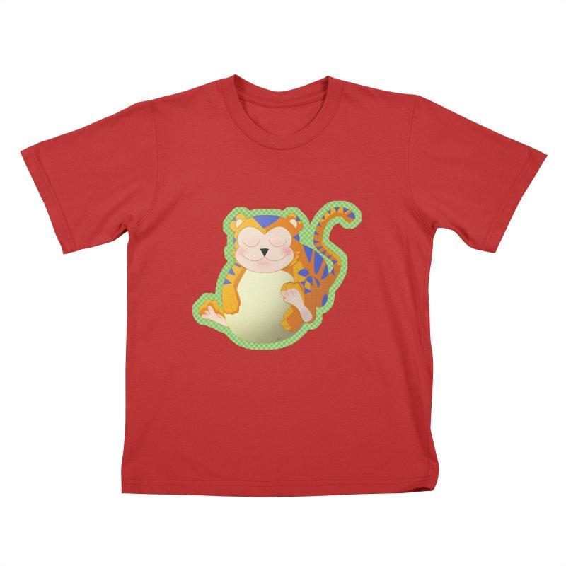 LIL' TIGER Kids T-Shirt by droidmonkey's Artist Shop