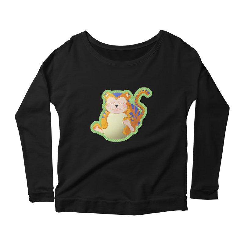 LIL' TIGER Women's Scoop Neck Longsleeve T-Shirt by droidmonkey's Artist Shop