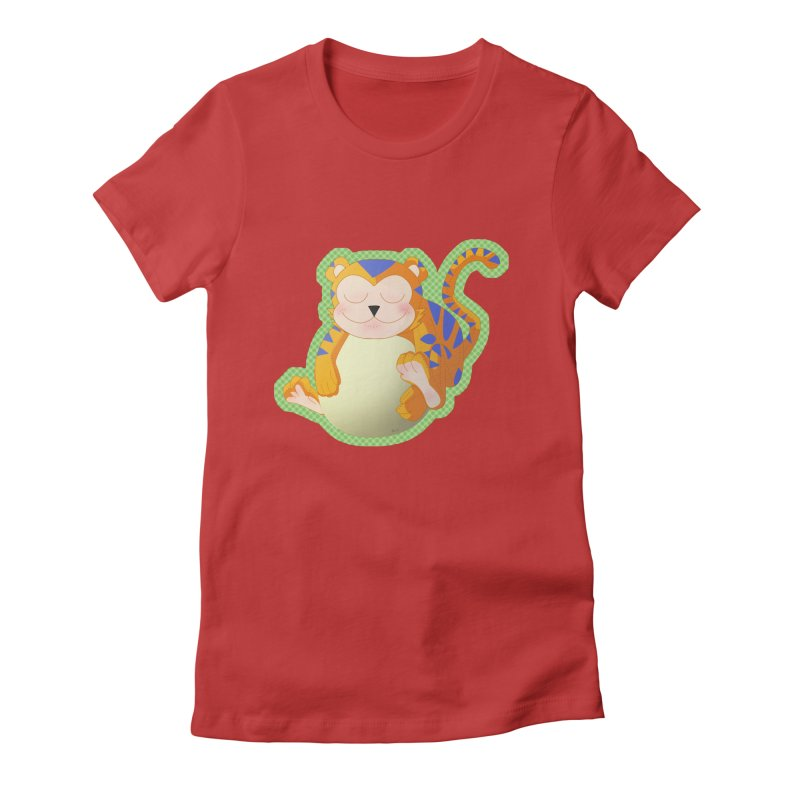 LIL' TIGER Women's Fitted T-Shirt by droidmonkey's Artist Shop