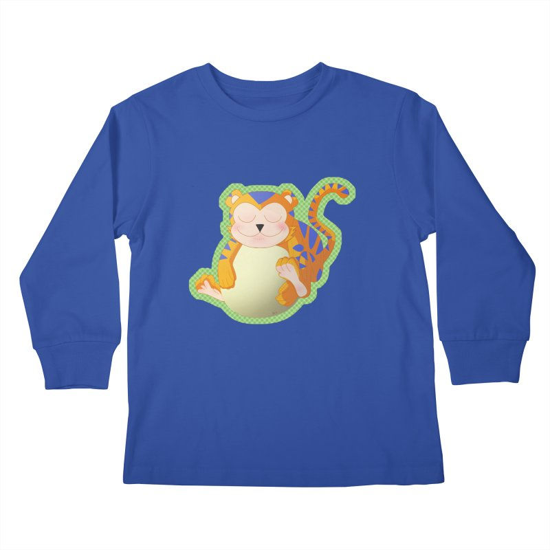LIL' TIGER Kids Longsleeve T-Shirt by droidmonkey's Artist Shop