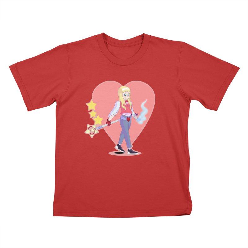 KID OF HEART Kids T-Shirt by droidmonkey's Artist Shop
