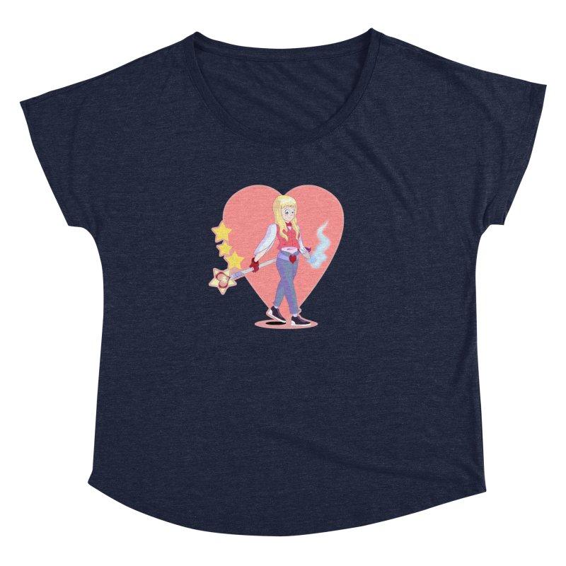 KID OF HEART Women's Dolman Scoop Neck by droidmonkey's Artist Shop