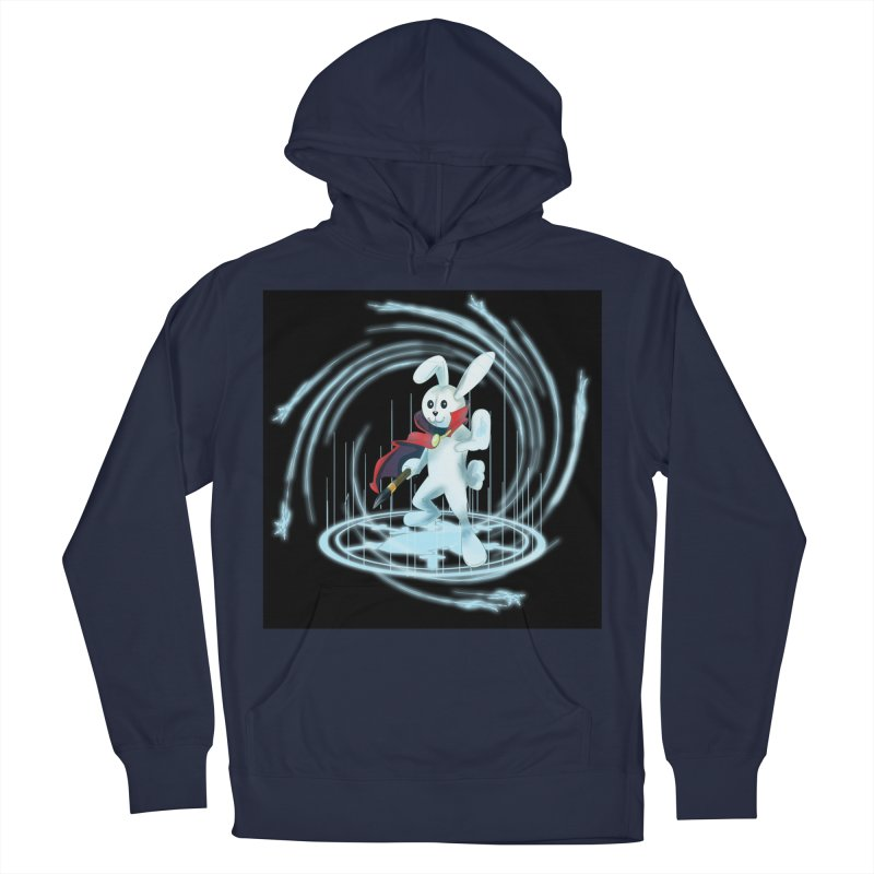 CAPTAIN RABBITFORD OF TE ORDER OF THE PLUSH Men's French Terry Pullover Hoody by droidmonkey's Artist Shop