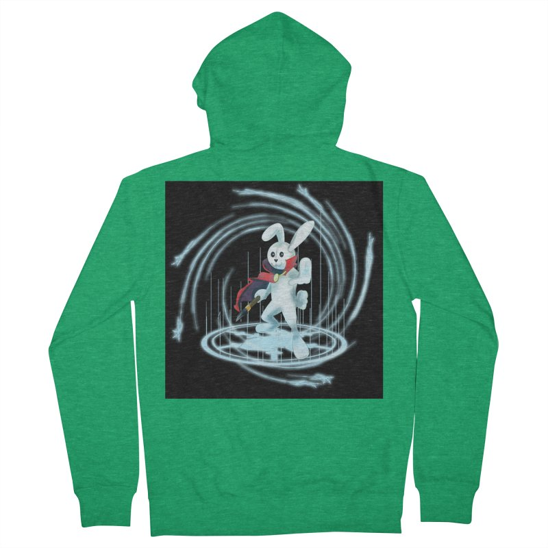 CAPTAIN RABBITFORD OF TE ORDER OF THE PLUSH Women's French Terry Zip-Up Hoody by droidmonkey's Artist Shop