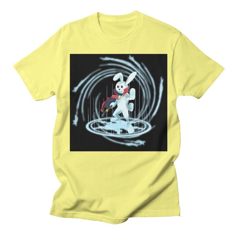 CAPTAIN RABBITFORD OF TE ORDER OF THE PLUSH Men's Regular T-Shirt by droidmonkey's Artist Shop