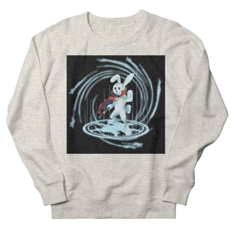 CAPTAIN RABBITFORD OF TE ORDER OF THE PLUSH Women's French Terry Sweatshirt by droidmonkey's Artist Shop