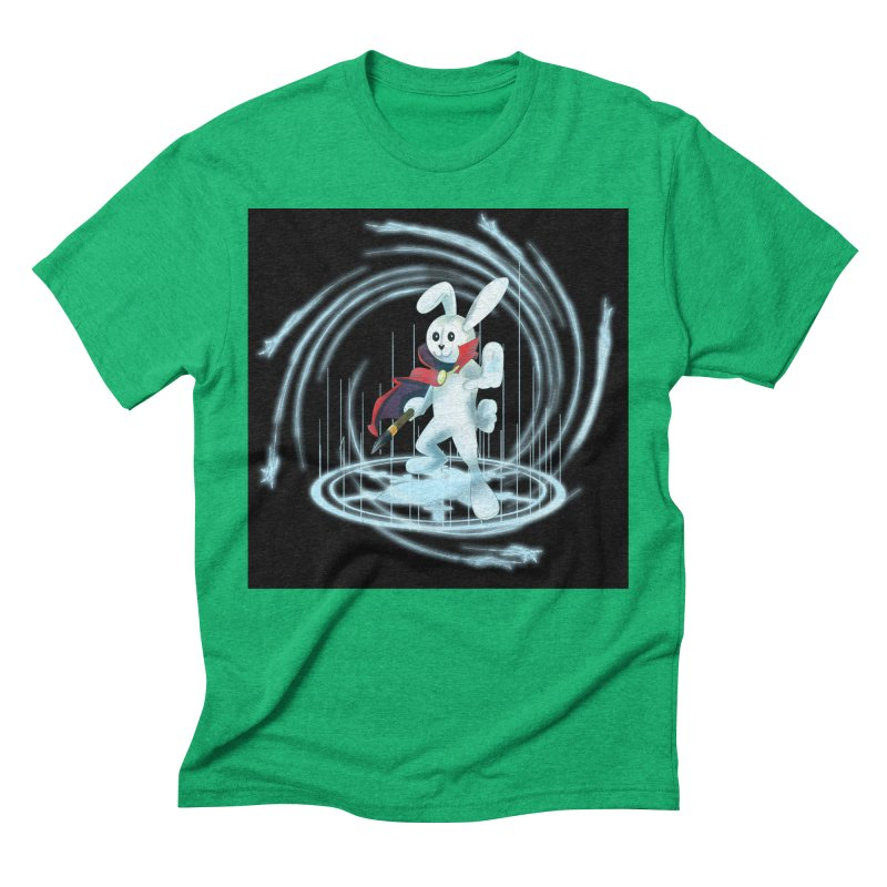CAPTAIN RABBITFORD OF TE ORDER OF THE PLUSH Men's Triblend T-Shirt by droidmonkey's Artist Shop